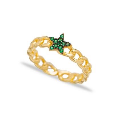 """Пръстен  """"Emerald Star"""""""